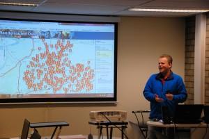 Ruud Schut van WayPoint presenteert de online wandelrouteplanner